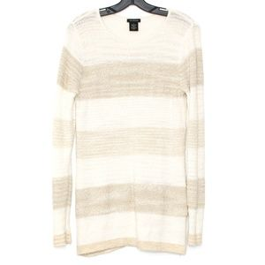 Calvin Klein Jeans Ivory striped Tunic Sweater D2